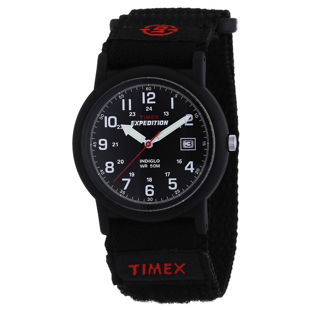 Timex T40011 Water Resistant Expedition Camper Black