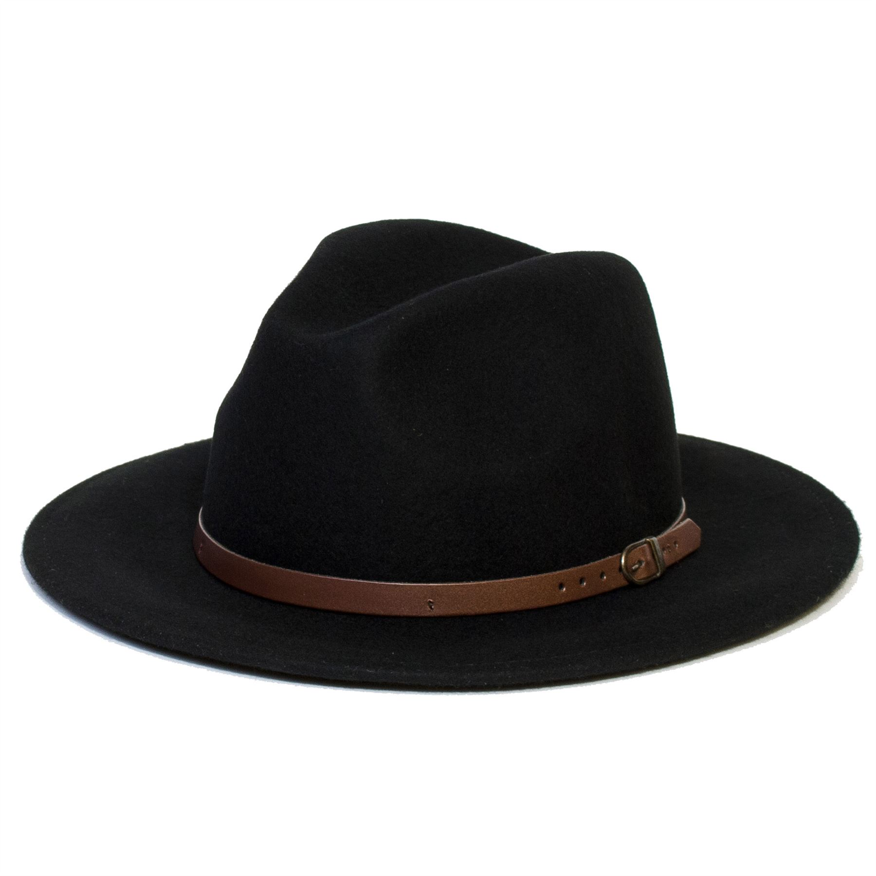 Mens Women Wool Vintage Felt Fedora Wide Brim Hat Cap New ...