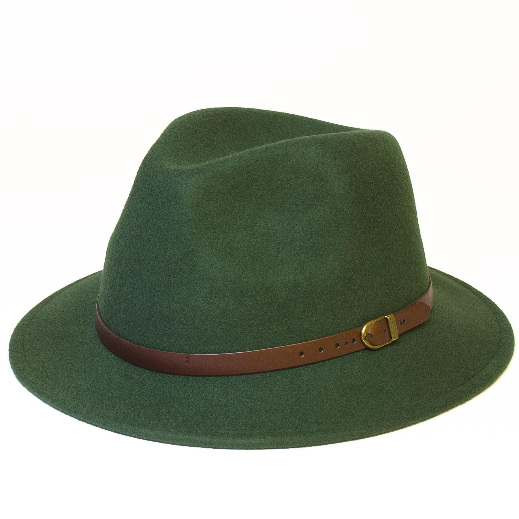 Mens Women Wool Hand Made Felt Fedora Wide Brim Panama Style Hat Cap New