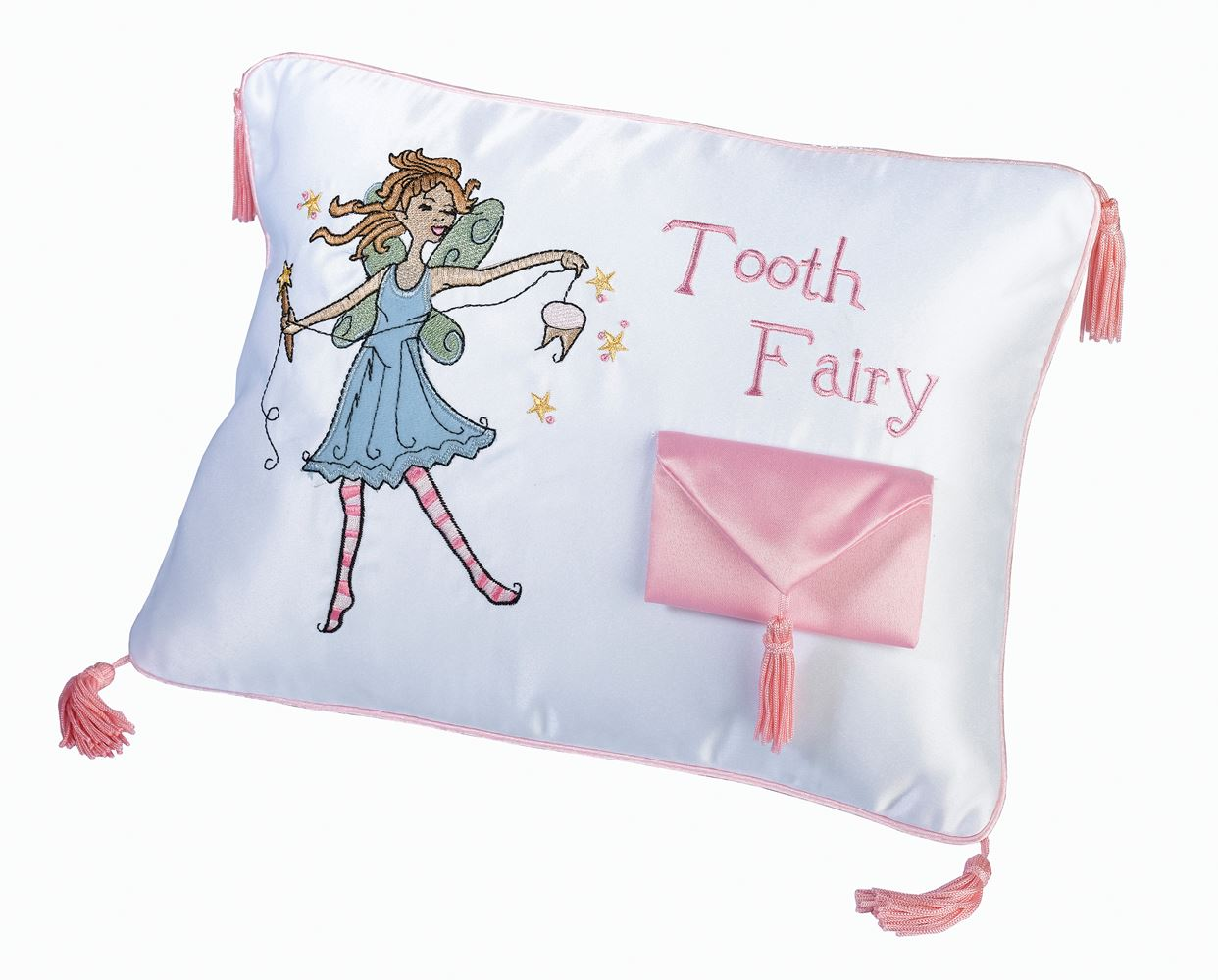 Cute Tooth Pillow : Adorable & Cute Top Quality Embroidered Dinosaur Tooth Fairy Pillow With Pouch eBay