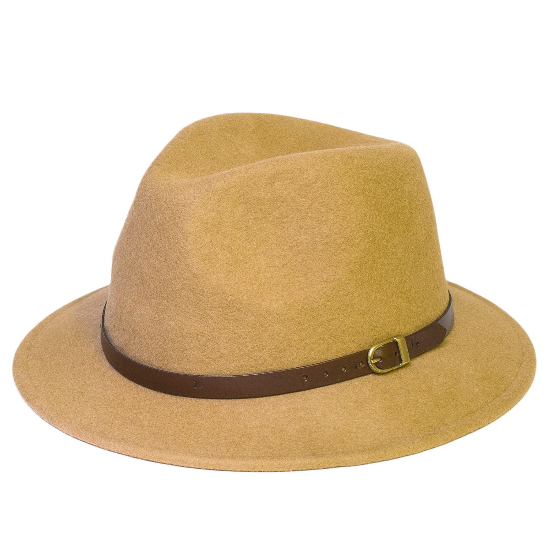 Mens Women Wool Hand Made Felt Fedora Wide Brim Panama ...