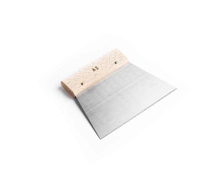 A2 Trowel Notch : Flooring adhesive a v notched spreader with wood handle cm