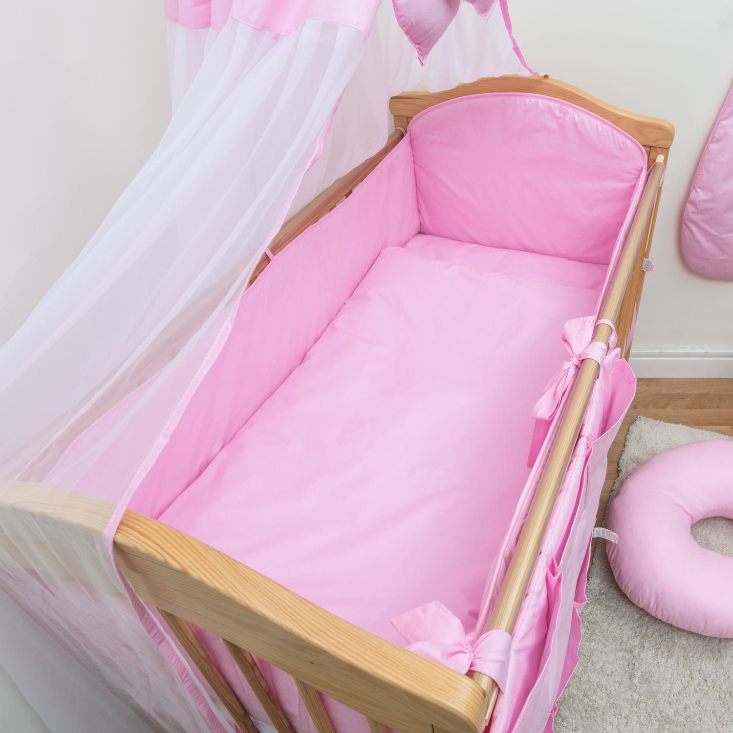all round cot cot bed bumper 4 sided pads with pattern or. Black Bedroom Furniture Sets. Home Design Ideas