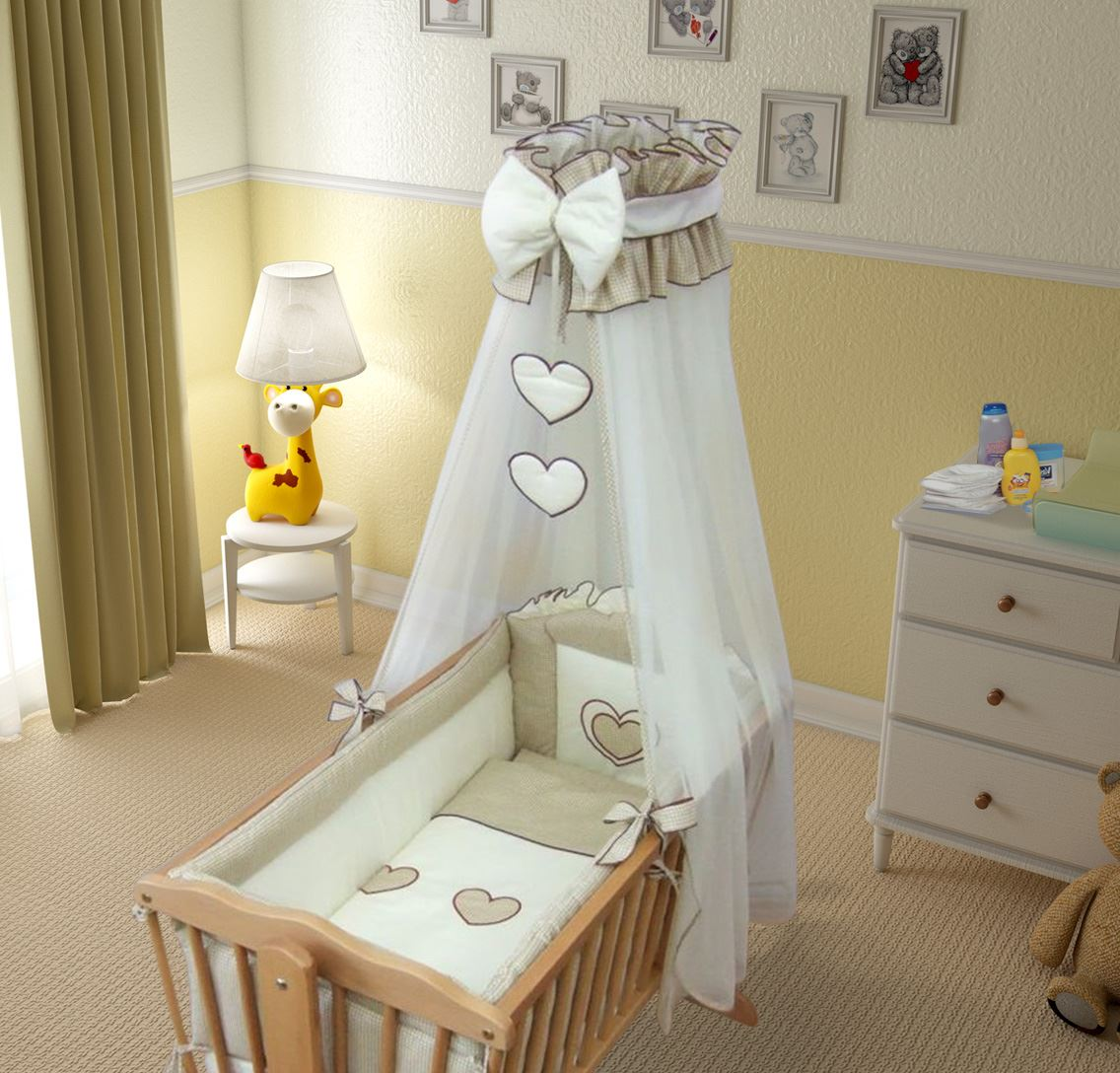9 st ck wiege baby bettw sche set 90 x 40 cm fassungen swinging ebay. Black Bedroom Furniture Sets. Home Design Ideas