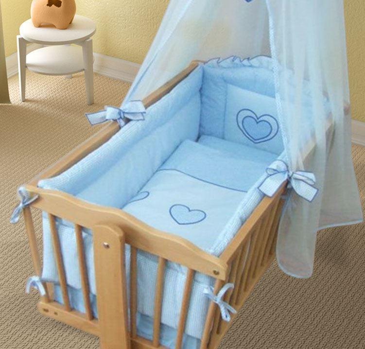 wiege rundum nestchen 260cm langen abdeckungen 4 seitig of wiege 90x40 cm herz ebay. Black Bedroom Furniture Sets. Home Design Ideas