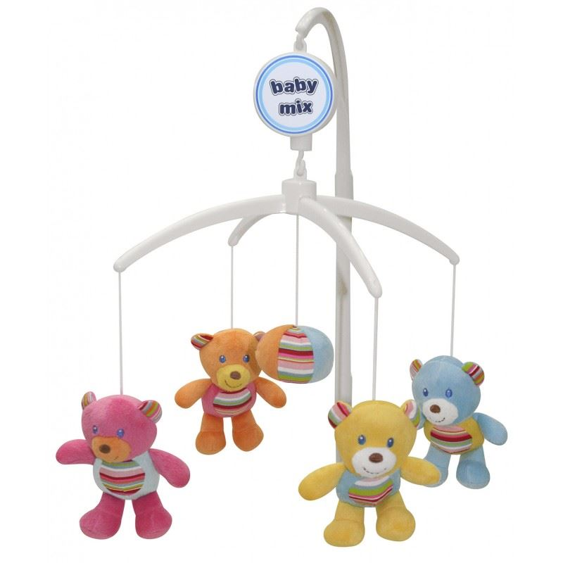 Crib Nursery Newborn Toys : Baby nursery cot crib mobile toy with soothing musical