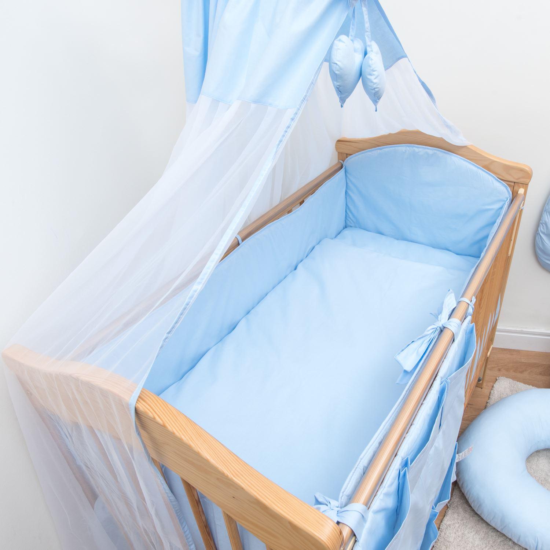 Completa cuna cuna cama protector de 4 caras almohadillas - Protector de cama ...