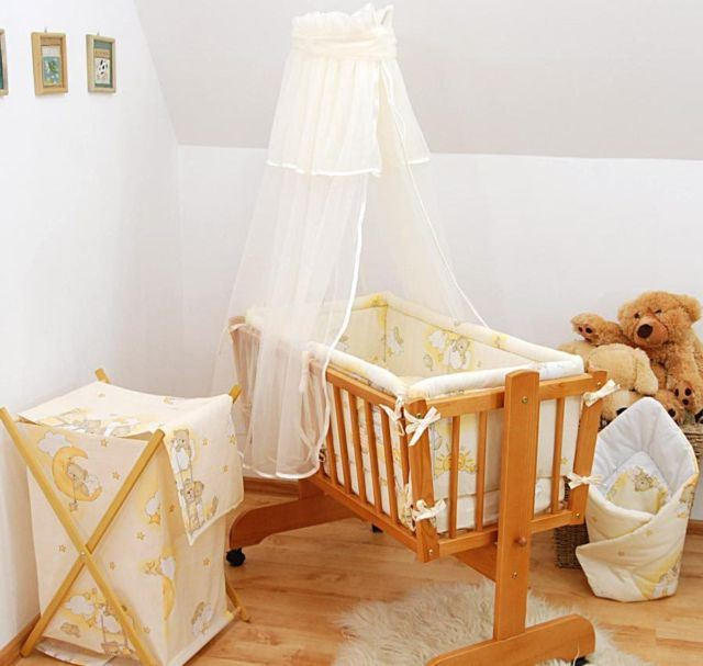 canopy drape mosquito net to fit crib cradle moses