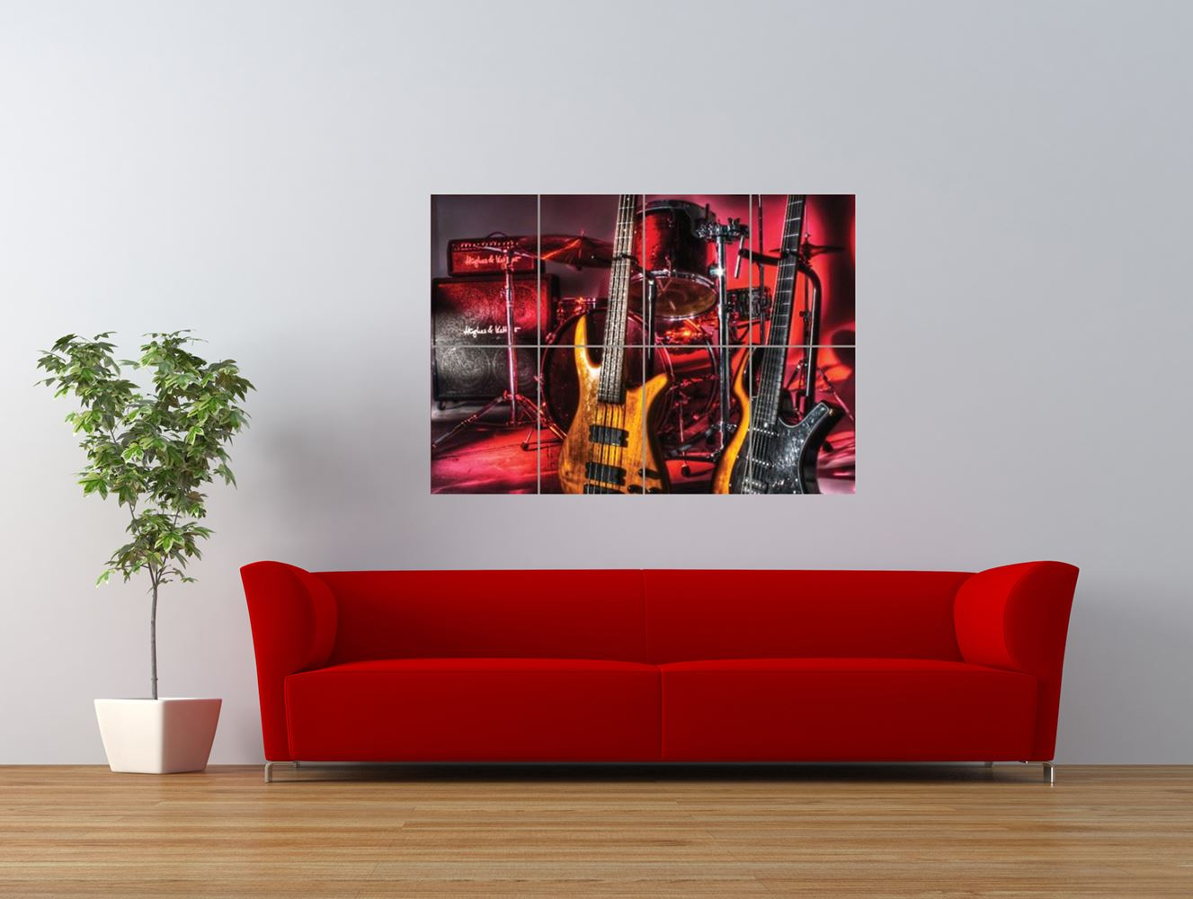 drums guitars bass music instrument giant art print panel poster nor0039 ebay. Black Bedroom Furniture Sets. Home Design Ideas