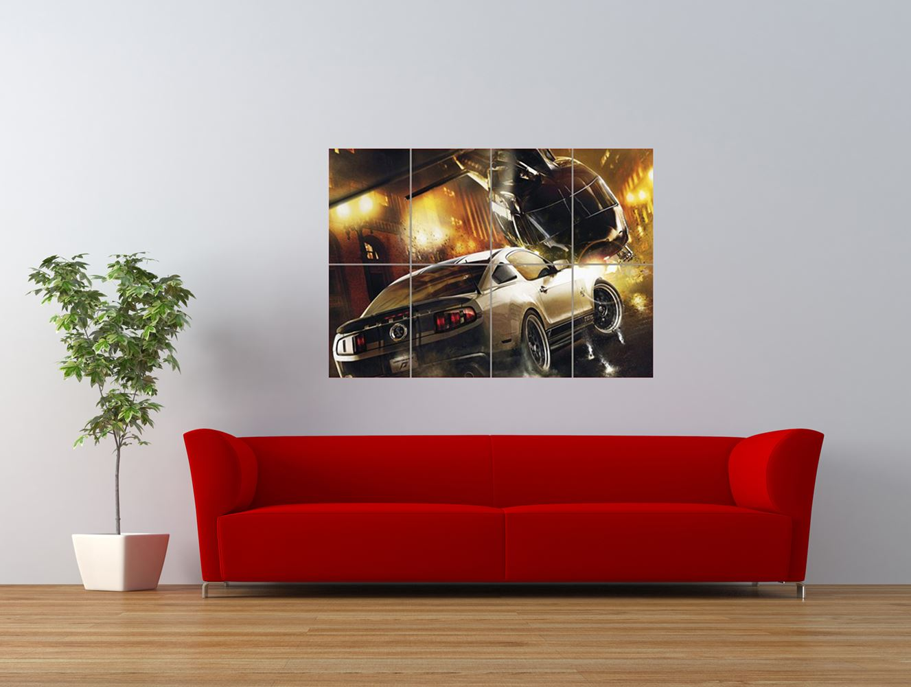 need for speed the run chopper car giant art print panel poster nor0531 ebay. Black Bedroom Furniture Sets. Home Design Ideas