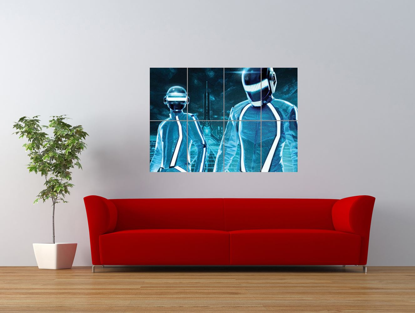 daft punk tron legacy music band giant art print panel poster nor0619. Black Bedroom Furniture Sets. Home Design Ideas