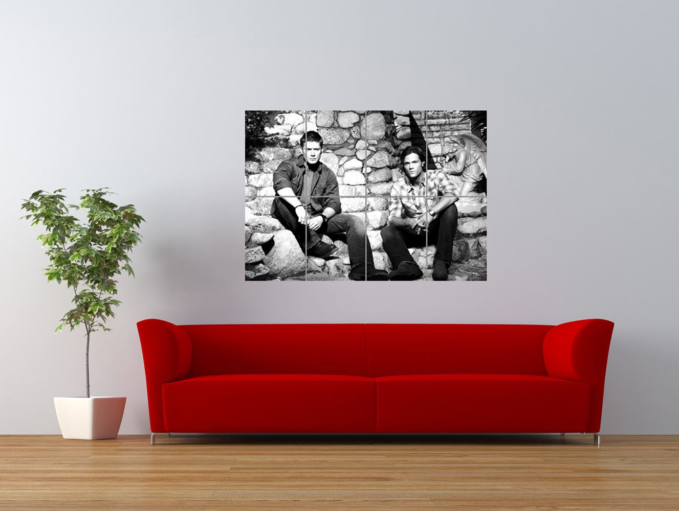supernatural jensen ackles jared padalecki giant art print panel poster nor0551 ebay. Black Bedroom Furniture Sets. Home Design Ideas
