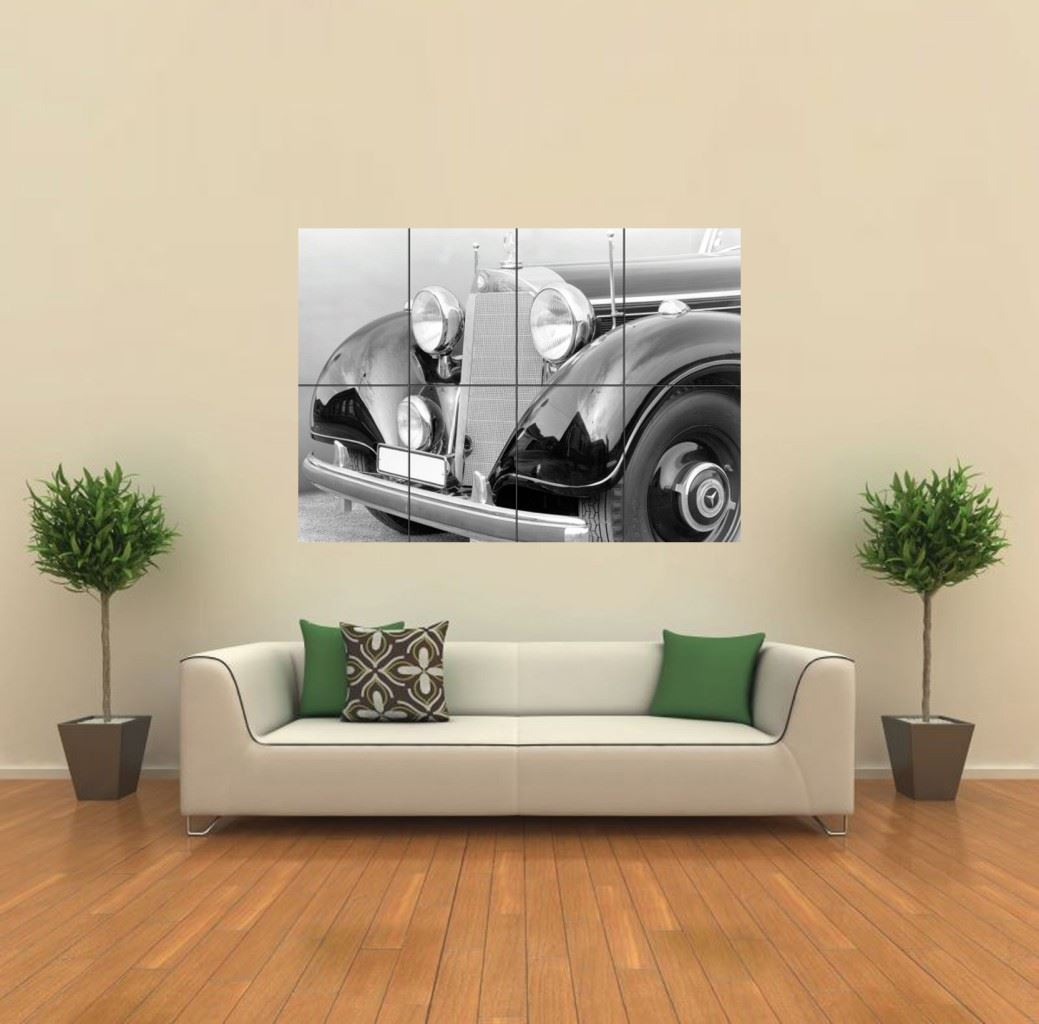 Mercedes benz classic car new giant large art print poster for Mercedes benz wall posters