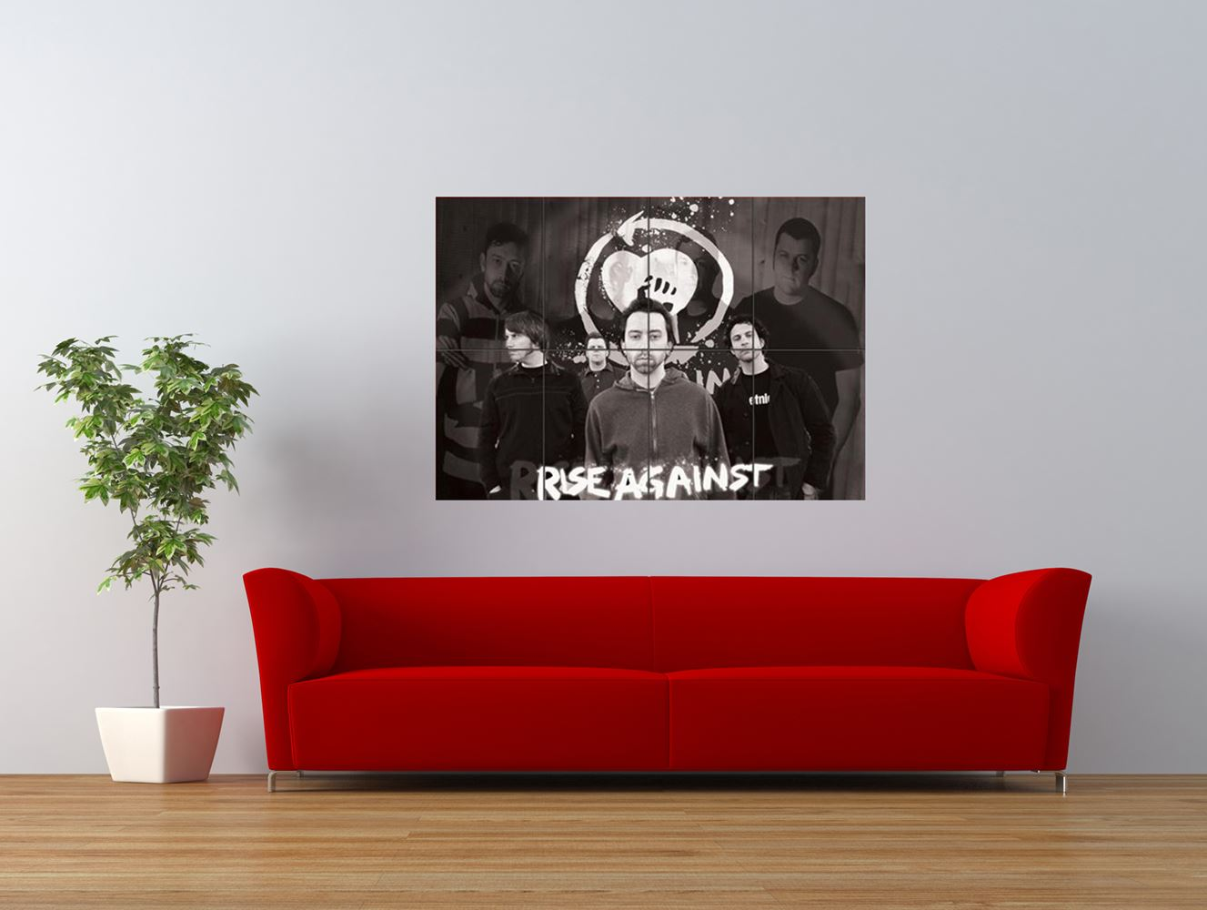 rise against music punk chicago cool giant art print panel poster nor0106. Black Bedroom Furniture Sets. Home Design Ideas