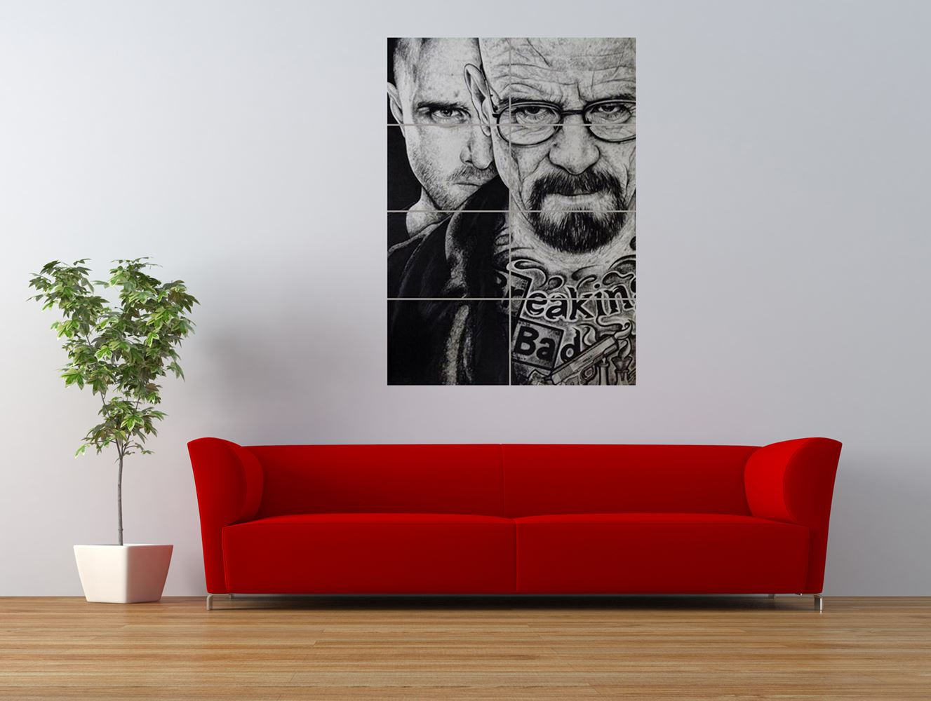 wm breaking bad drawing walt jesse tattoo giant art print panel poster nor0579 ebay. Black Bedroom Furniture Sets. Home Design Ideas