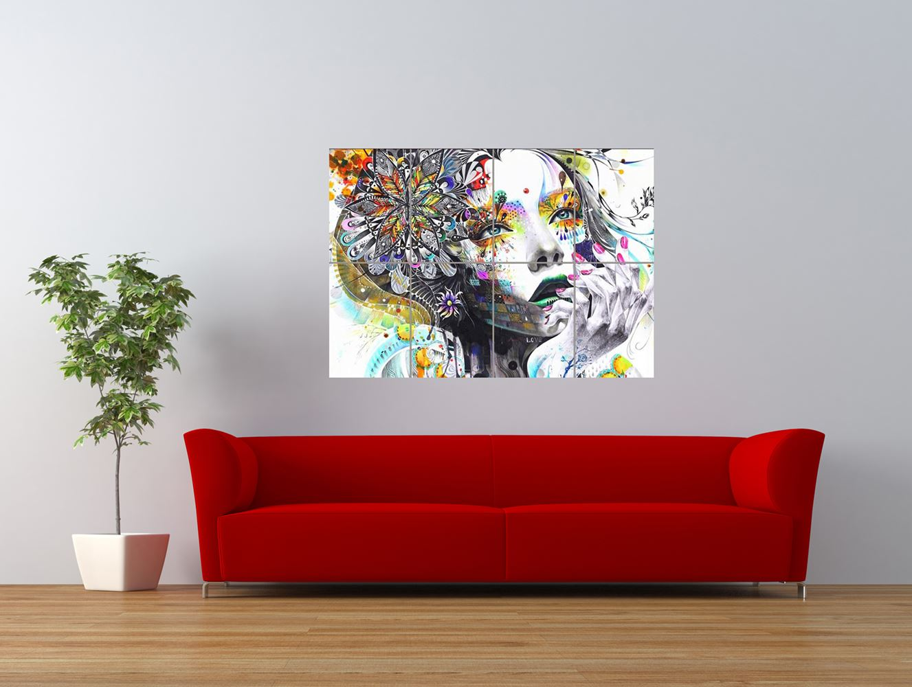 PAINTING-PSYCHEDELIC-GIRL-STREET-GRAFFITI-GIANT-ART-PRINT-PANEL-POSTER