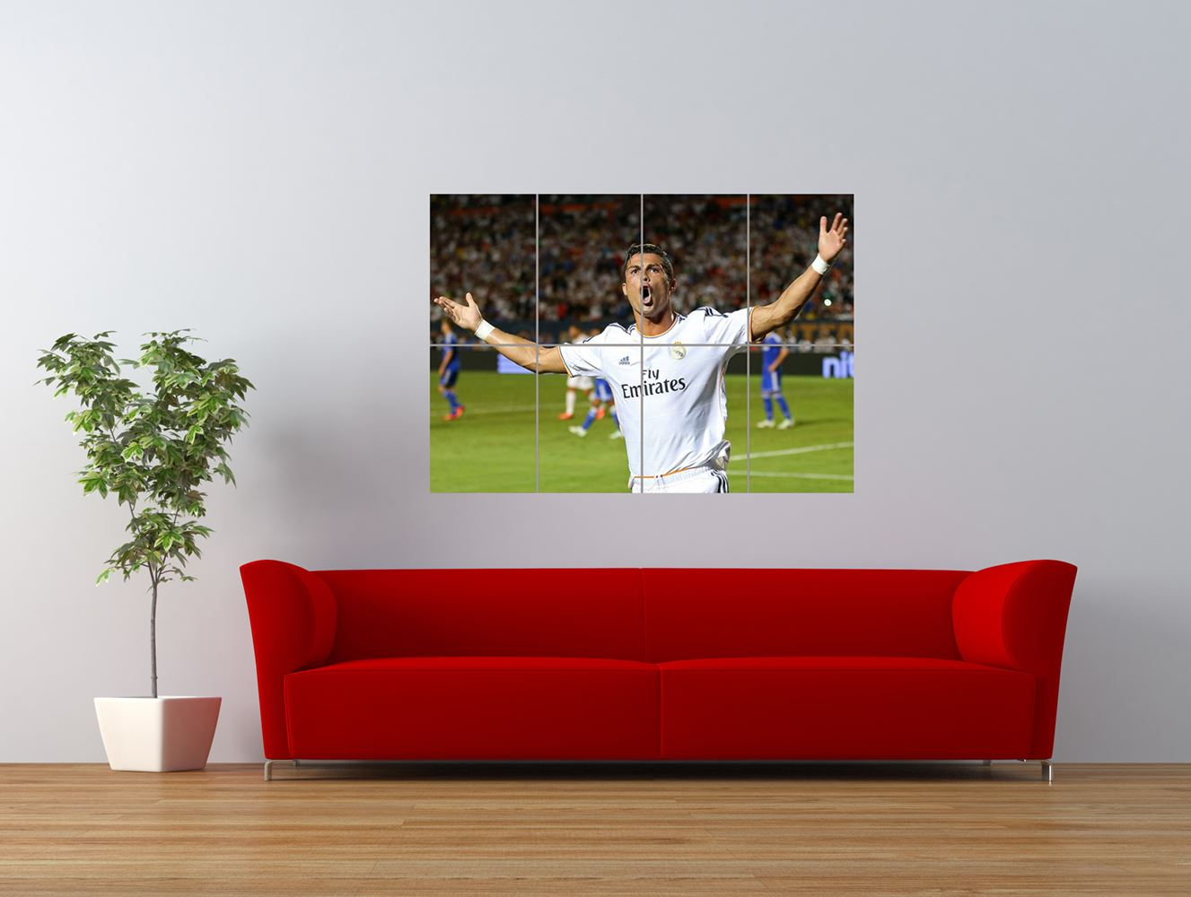 cristiano ronaldo football giant art print panel poster nor0258 ebay. Black Bedroom Furniture Sets. Home Design Ideas