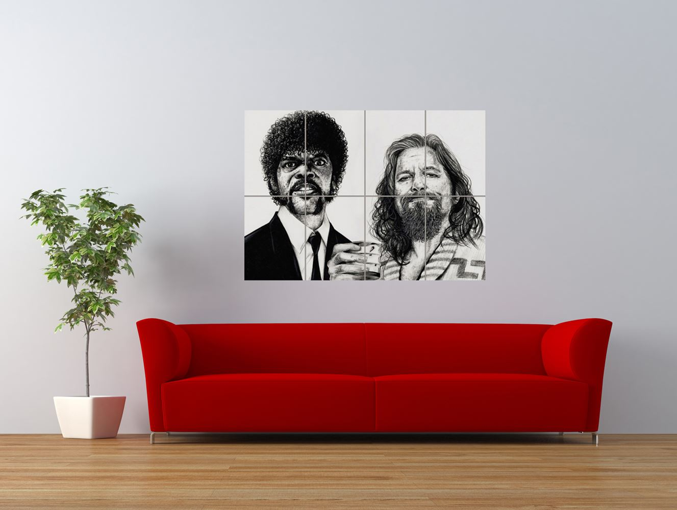 wm pulp fiction big lebowski tattoo icon giant art print panel poster nor0577 ebay. Black Bedroom Furniture Sets. Home Design Ideas