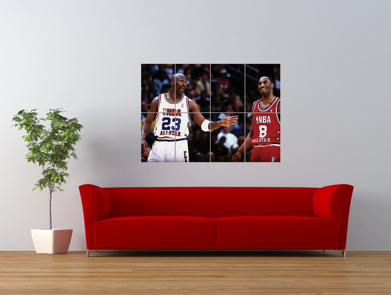 kobe bryant michael jordan basketball sport giant art print panel poster nor0089 ebay. Black Bedroom Furniture Sets. Home Design Ideas