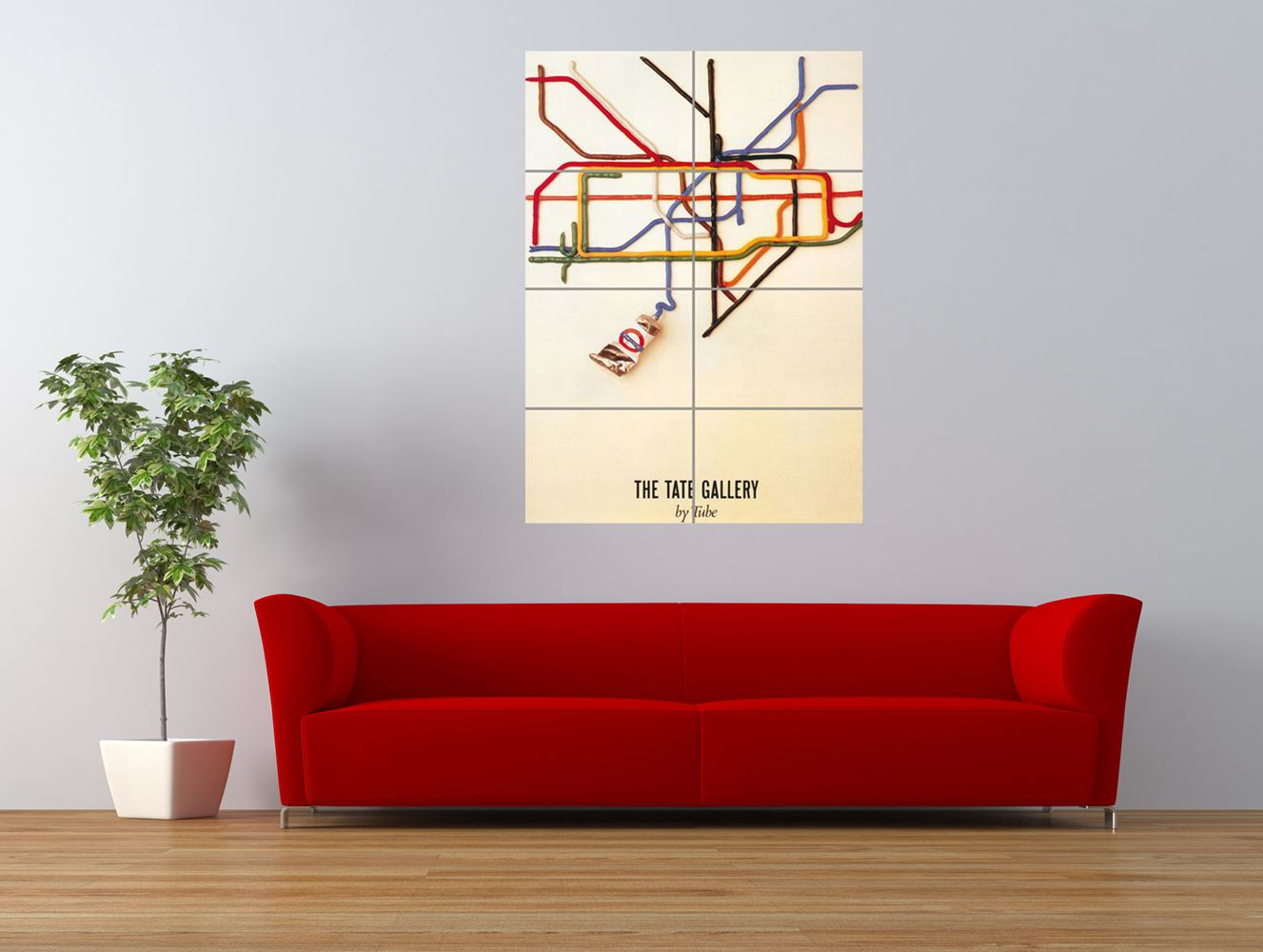 london underground tate gallery paint tube giant art print panel poster nor0287 ebay. Black Bedroom Furniture Sets. Home Design Ideas