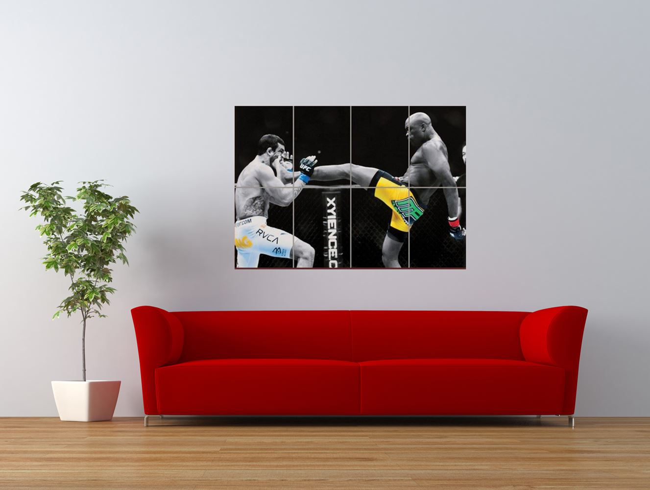 anderson silva ufc kick fighter cool giant art print panel poster nor0024 ebay. Black Bedroom Furniture Sets. Home Design Ideas