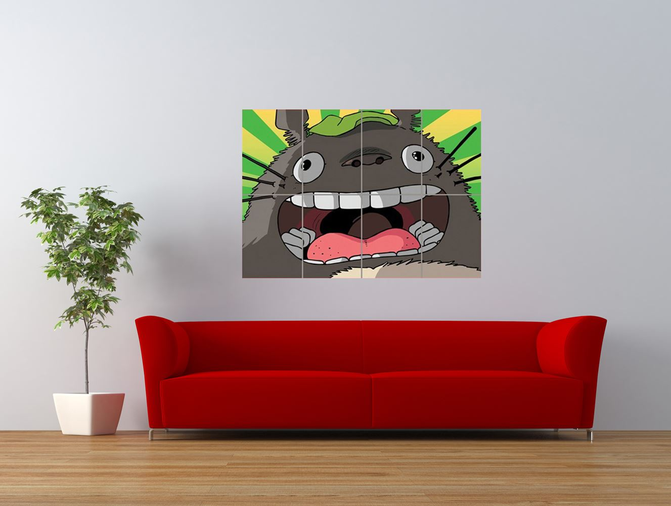 my neighbour totoro anime cartoon fun giant art print panel poster nor0530 ebay. Black Bedroom Furniture Sets. Home Design Ideas