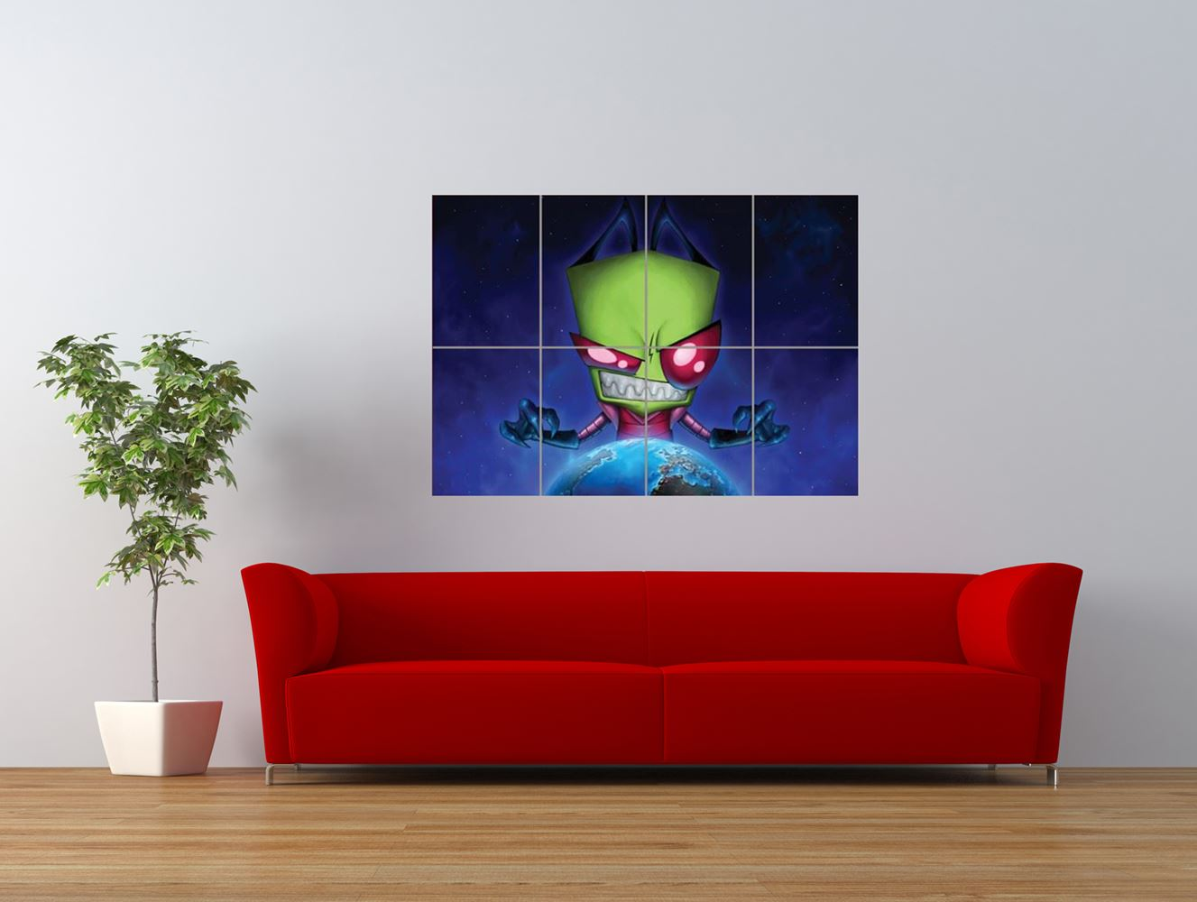 invader zim cartoon kids television giant art print panel poster nor0042 ebay. Black Bedroom Furniture Sets. Home Design Ideas