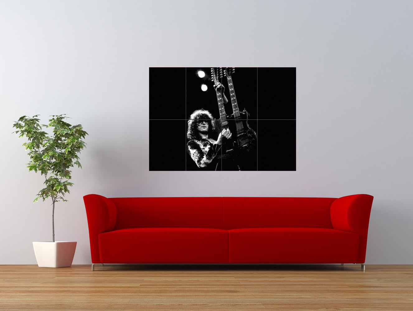 jimmy page led zeppelin cult guitar hero giant art print panel poster nor0103 ebay. Black Bedroom Furniture Sets. Home Design Ideas