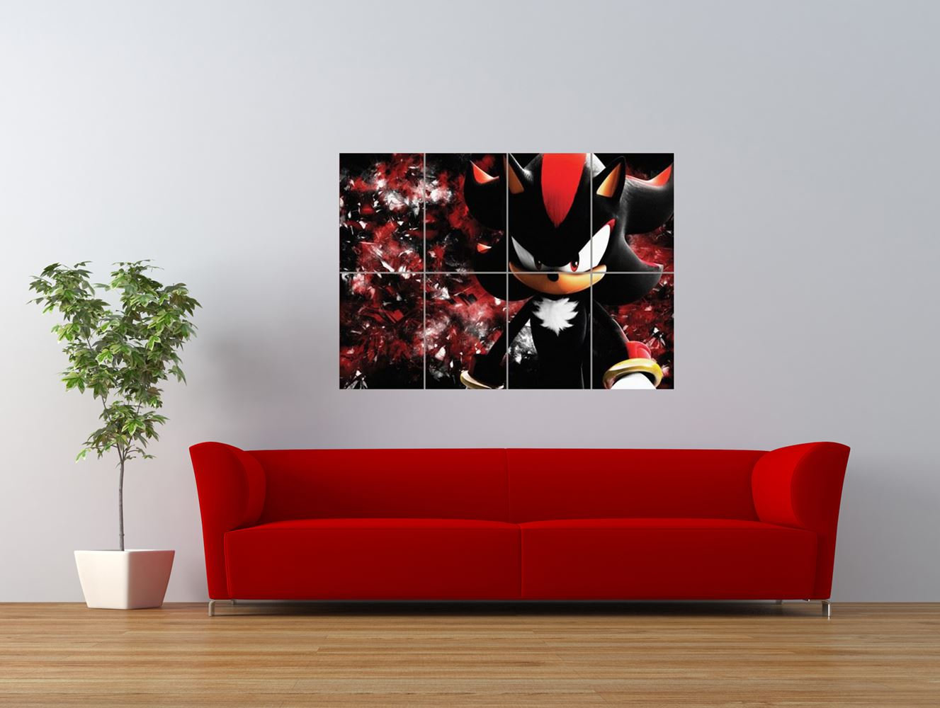 shadow the hedgehog sonic video game giant art print panel poster nor0047 ebay. Black Bedroom Furniture Sets. Home Design Ideas