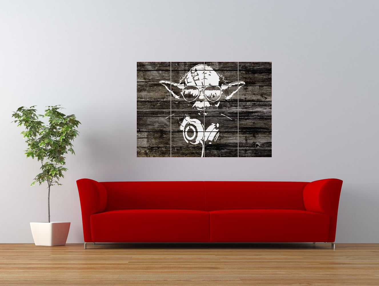star wars graffiti yoda stencil style giant art print panel poster nor0547 ebay. Black Bedroom Furniture Sets. Home Design Ideas
