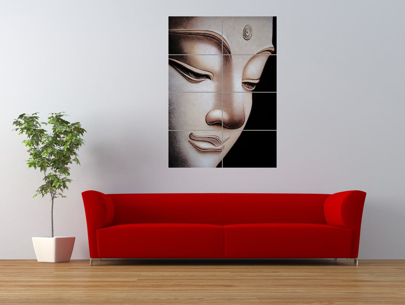 buddha buddhist religion lifestyle head giant art print panel poster nor0624 ebay. Black Bedroom Furniture Sets. Home Design Ideas