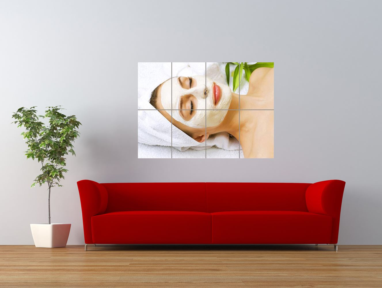 salon spa health beauty facial mask giant art print panel poster nor0332 ebay. Black Bedroom Furniture Sets. Home Design Ideas