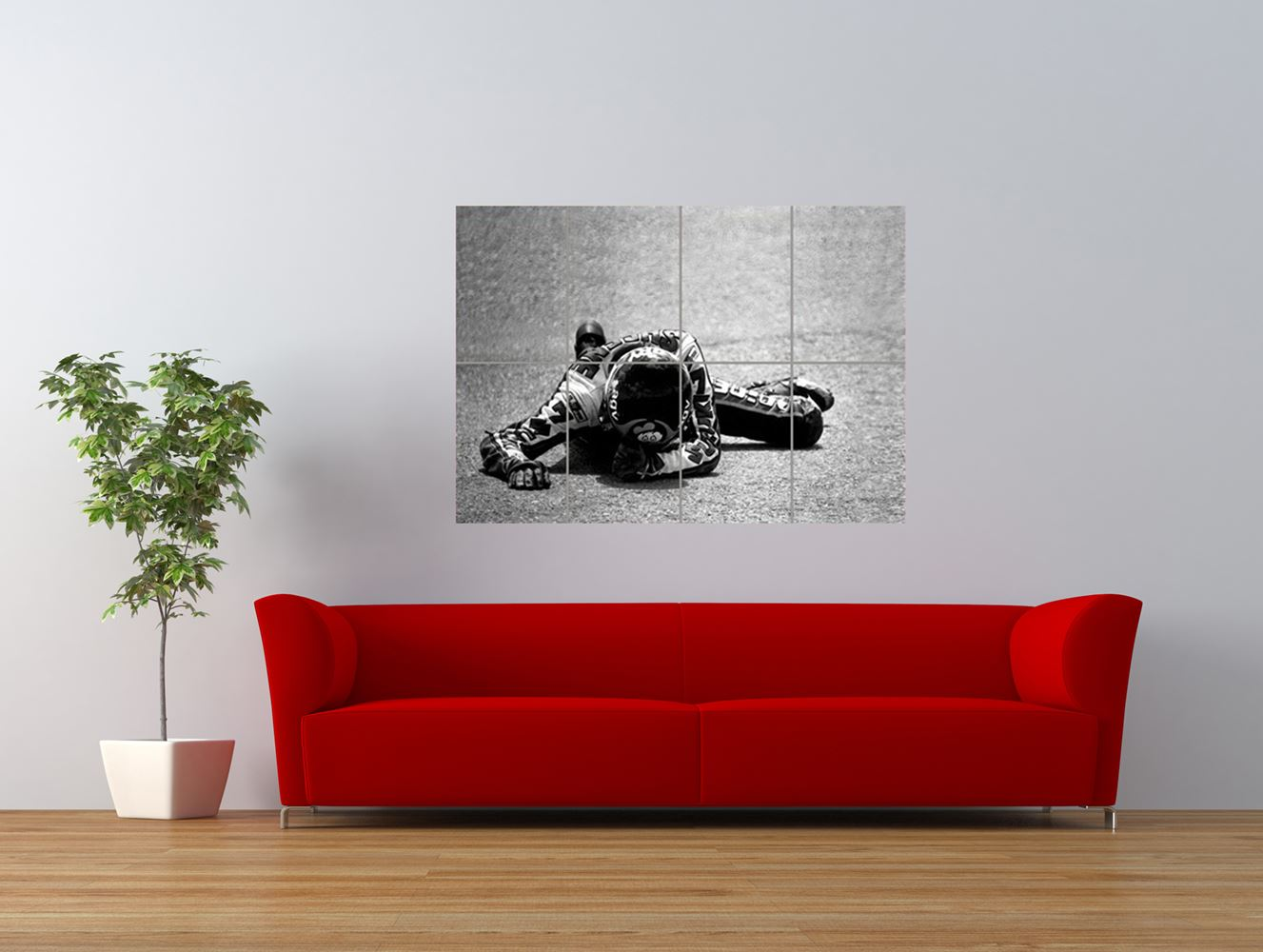 barry sheene motorbike motor sport champion giant art print panel poster nor0497 ebay. Black Bedroom Furniture Sets. Home Design Ideas