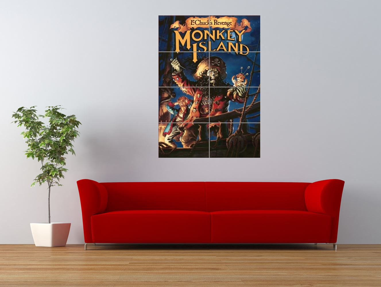 monkey island retro pc computer game giant art print panel poster nor0044 ebay. Black Bedroom Furniture Sets. Home Design Ideas
