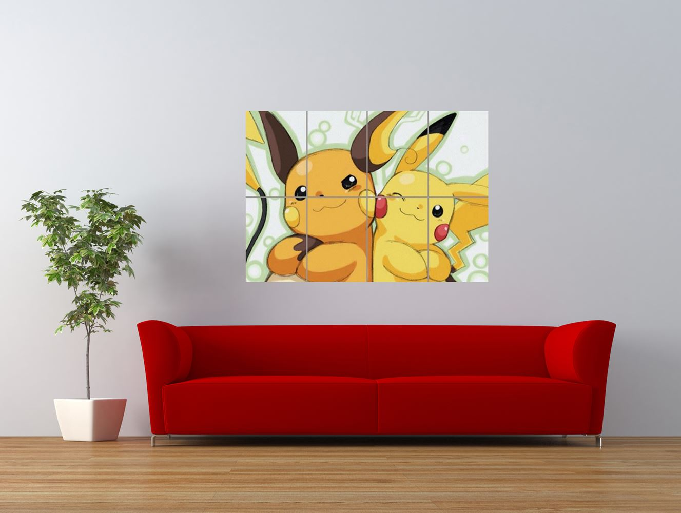 pokemon pikachu raichu anime cartoon cool giant art print panel poster nor0064 ebay. Black Bedroom Furniture Sets. Home Design Ideas