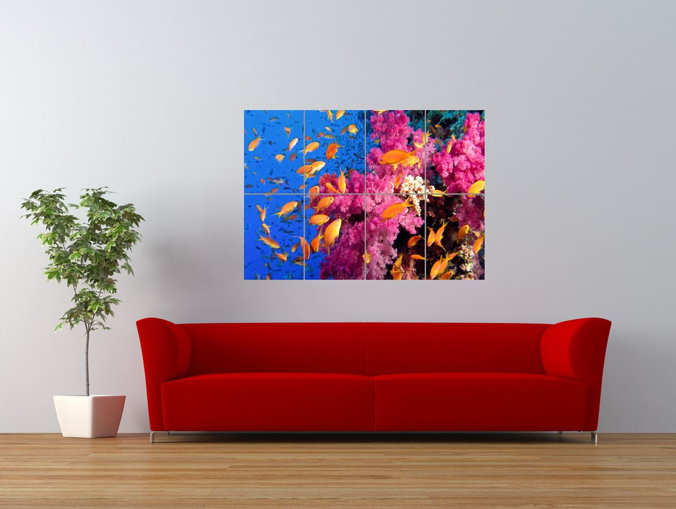 coral reef fish under water sea tropical giant art print panel poster nor0278 ebay. Black Bedroom Furniture Sets. Home Design Ideas