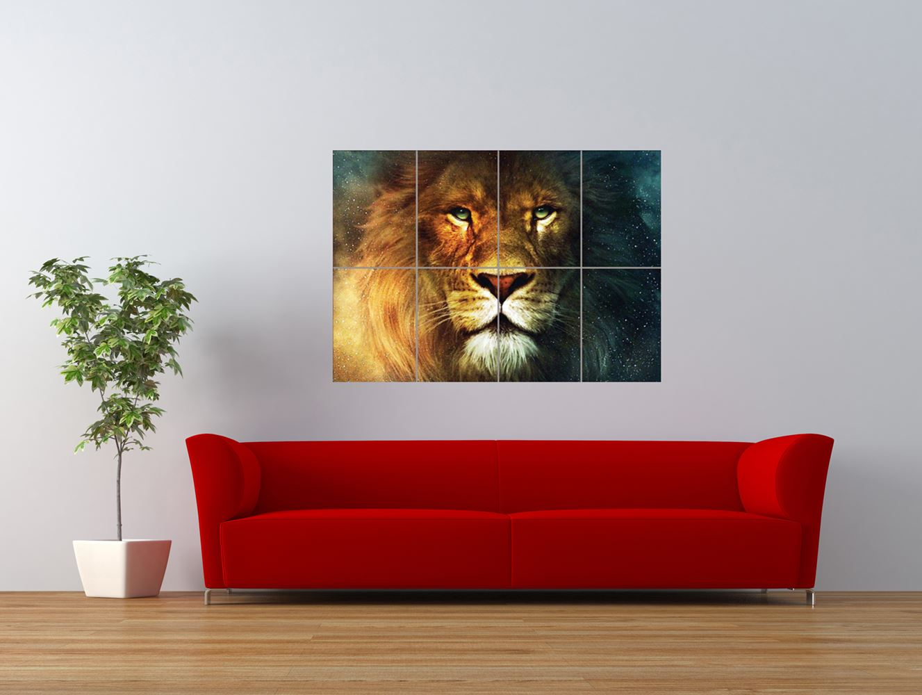 the chronicles of narnia lion aslan lewis giant art print panel poster nor0621 ebay. Black Bedroom Furniture Sets. Home Design Ideas