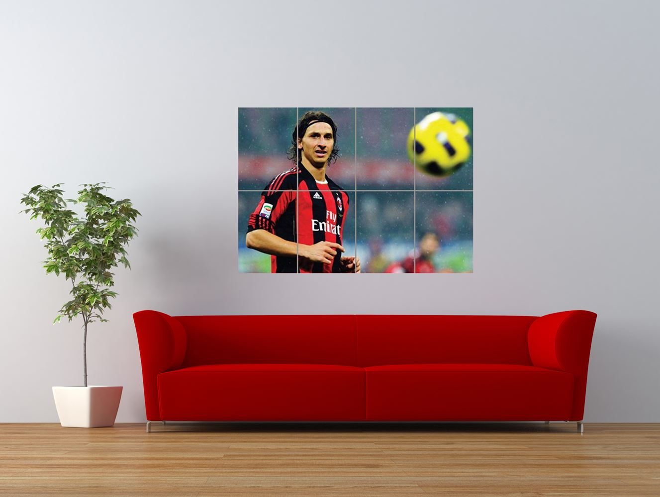zlatan ibrahimovic ac milan sport football giant art print panel poster nor0561. Black Bedroom Furniture Sets. Home Design Ideas
