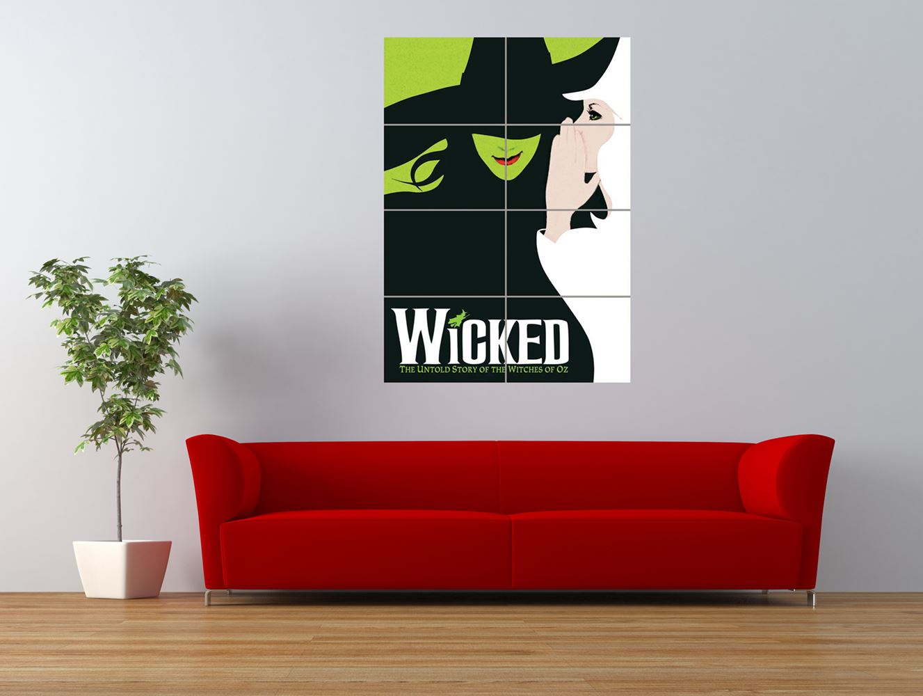 wicked broadway musical book oz witch giant art print panel poster nor0249 ebay. Black Bedroom Furniture Sets. Home Design Ideas
