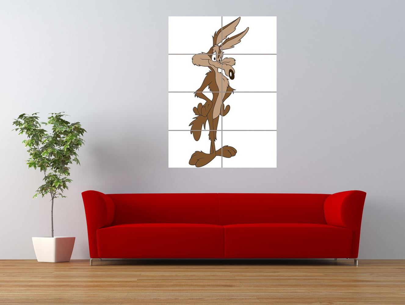 wile e coyote road runner villain giant art print panel poster nor0560 ebay. Black Bedroom Furniture Sets. Home Design Ideas
