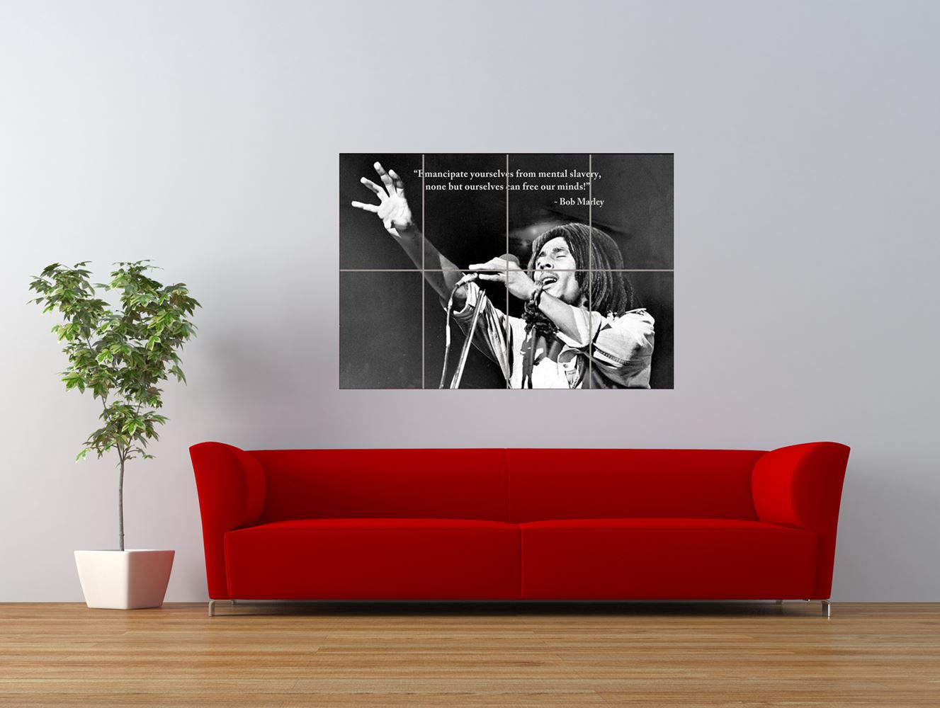 bob marley reggae legend quote redemption giant art print panel poster nor0264 ebay. Black Bedroom Furniture Sets. Home Design Ideas