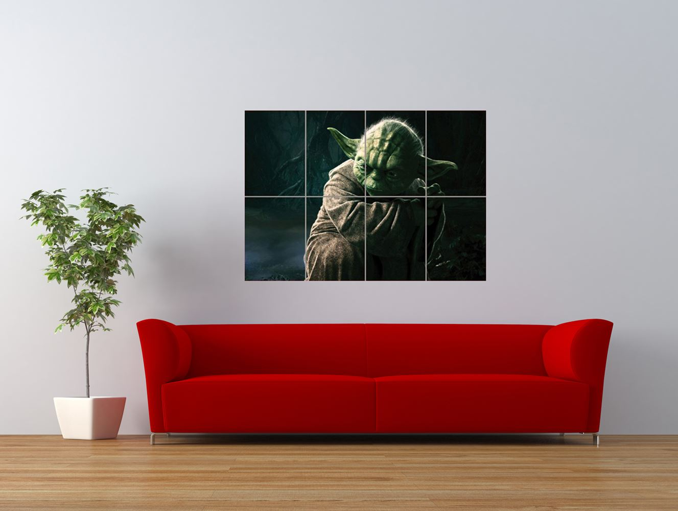 jedi master yoda star wars character giant art print panel poster nor0524 ebay. Black Bedroom Furniture Sets. Home Design Ideas