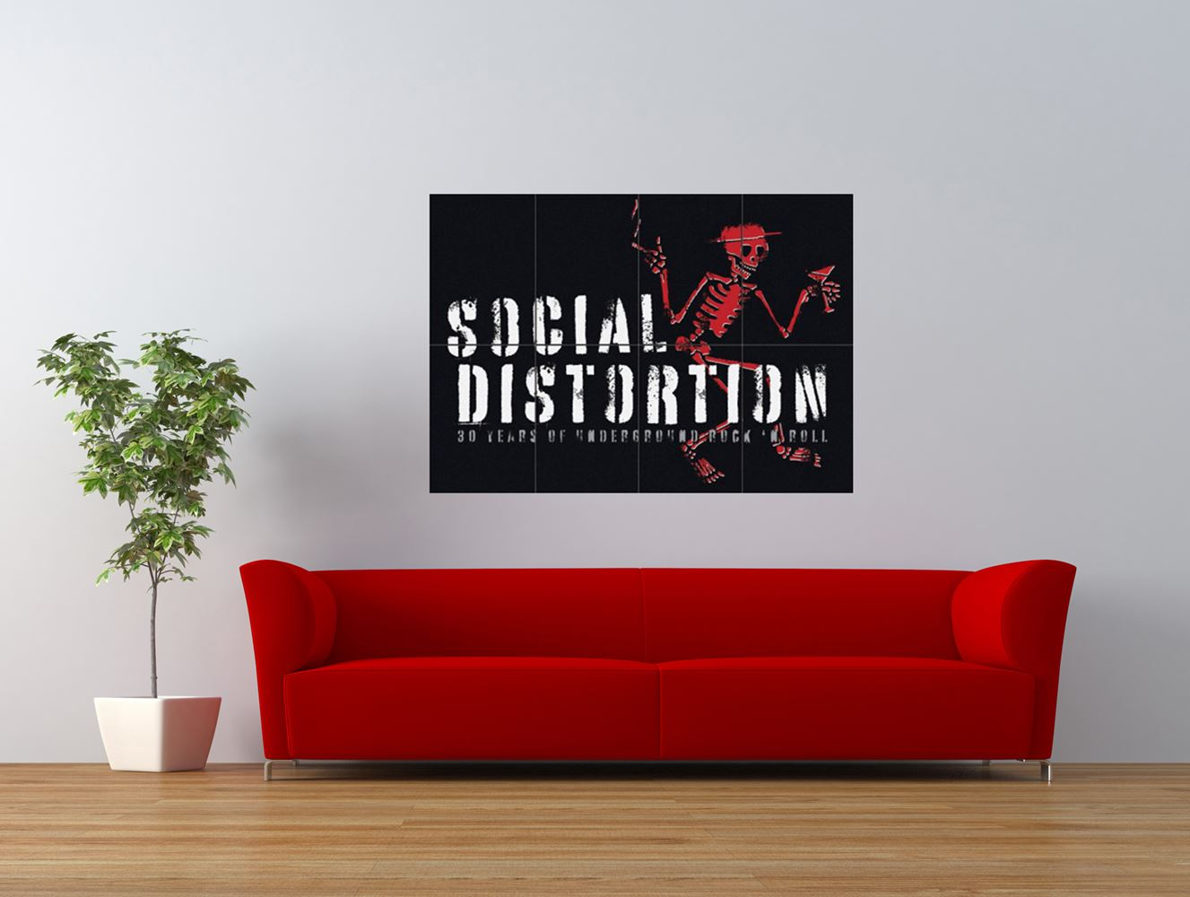 social distortion punk rock skeleton giant art print panel poster nor0586 ebay. Black Bedroom Furniture Sets. Home Design Ideas
