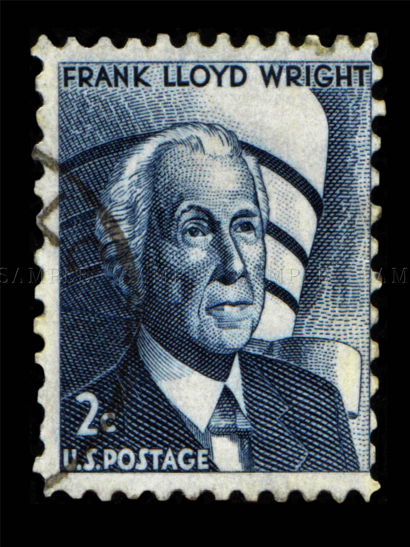 frank lloyd wright vintage stamp photo art print poster picture bmp726a ebay. Black Bedroom Furniture Sets. Home Design Ideas