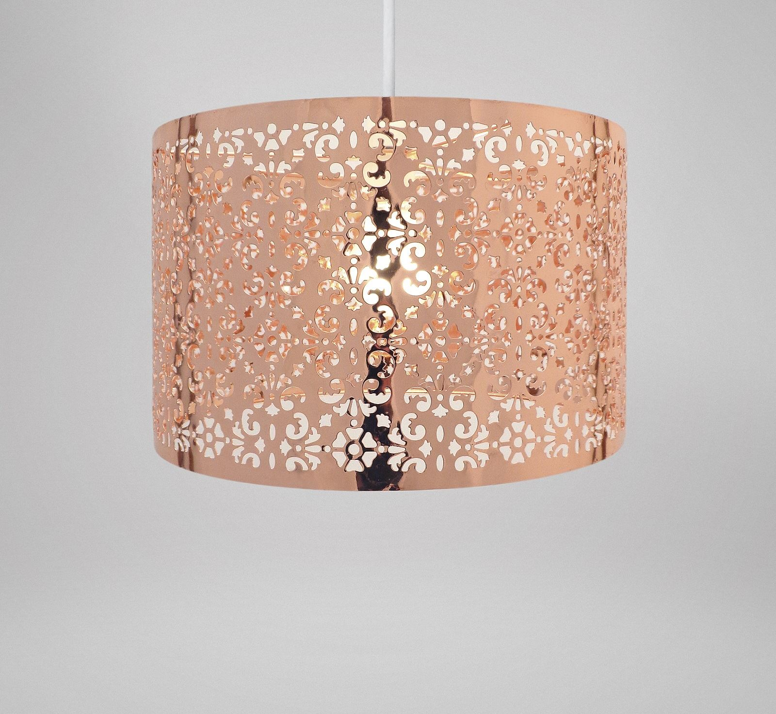 Easy Ceiling Lamp Shade: Large Metal Laser Cut Chandelier Universal Ceiling Light
