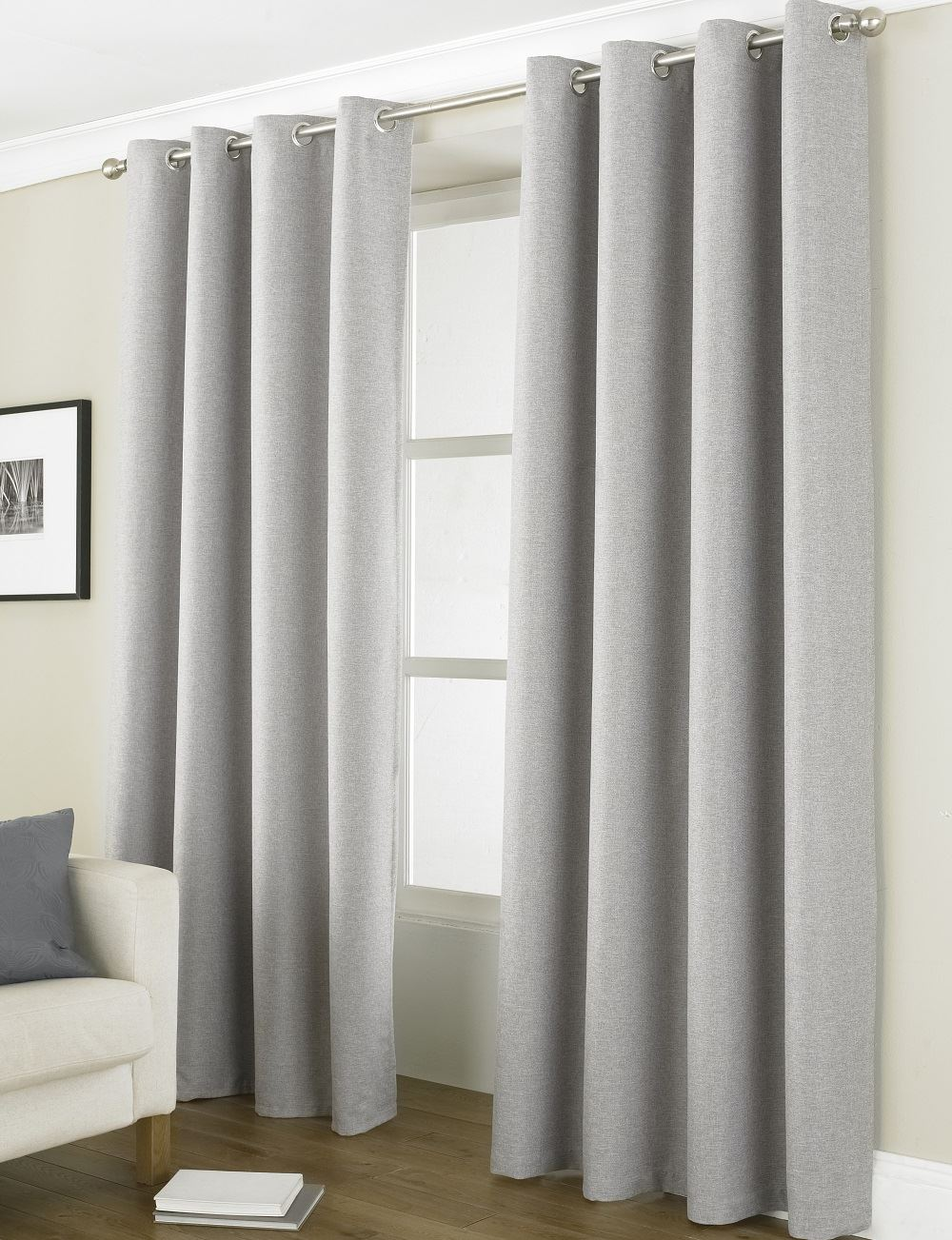 Linea Luxury 72 90 Long Blackout Energy Saver Ring Top Eyelet Curtain Pairs Ebay