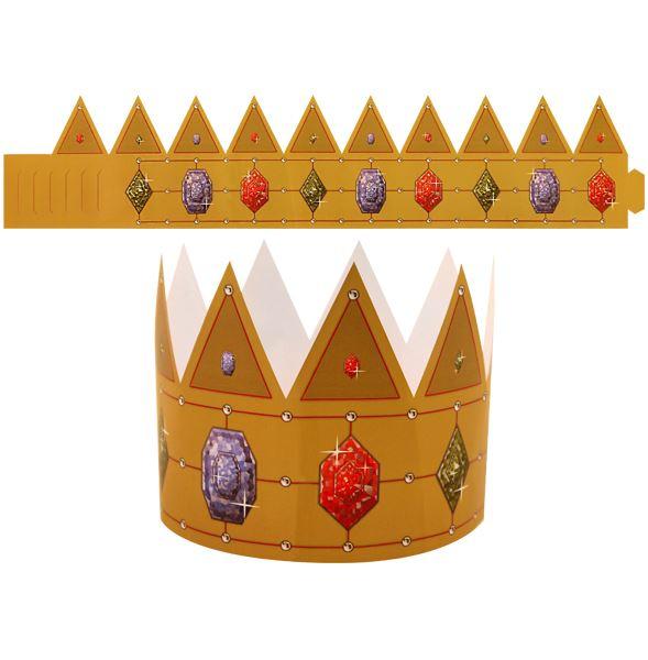 KING & QUEEN PAPER CROWN HAT FANCY DRESS PARTY BAGS KIDS ...