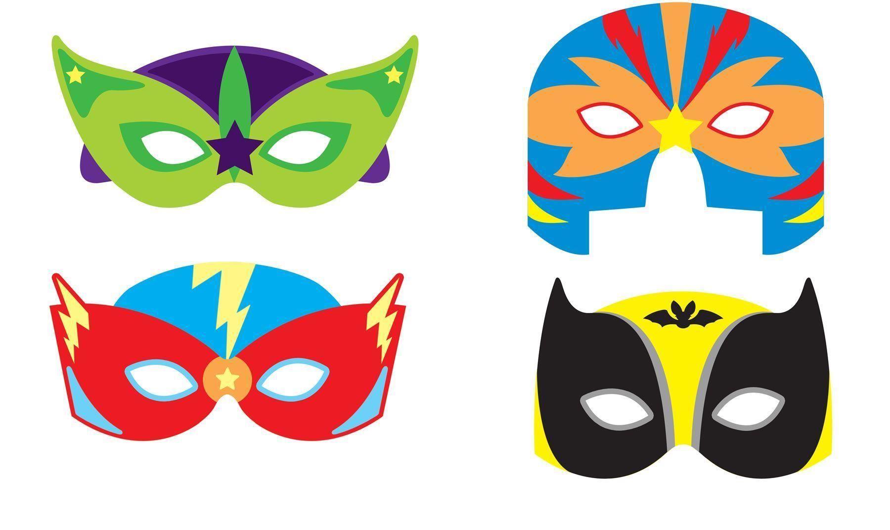 Super hero superhero eva foam eye mask fancy dress party - Masque super heros imprimer ...