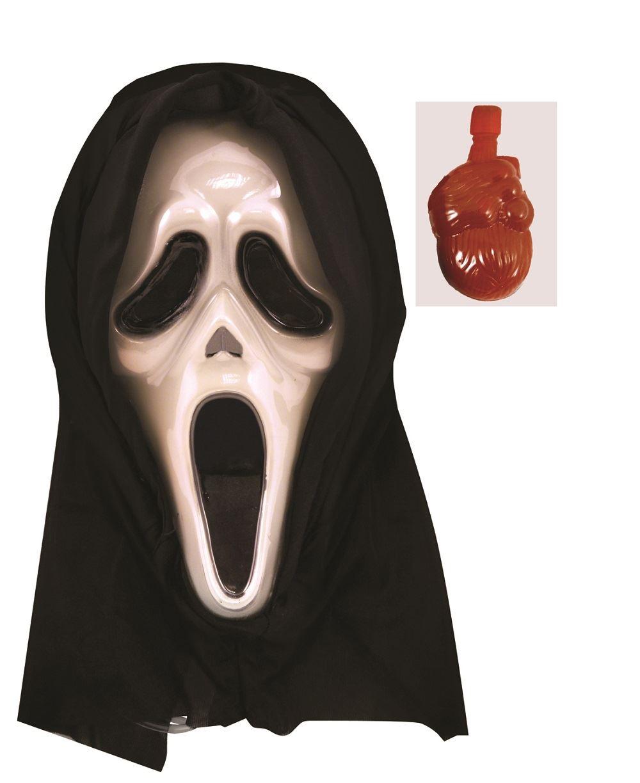 Halloween Adult Bleeding Scream Ghost Mask Blood Pump Scary Fancy ...