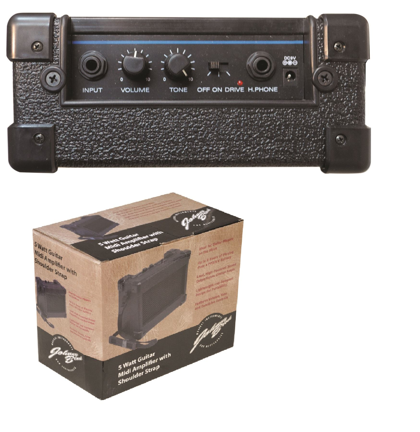 Johnny-Brook-3W-Mini-amp-5W-Midi-Guitar-Amplifier-Speaker-Belt-Clip-Shoulder-Strap